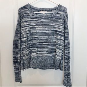 Banana Republic Blue Marled Long Sleeve Sweater